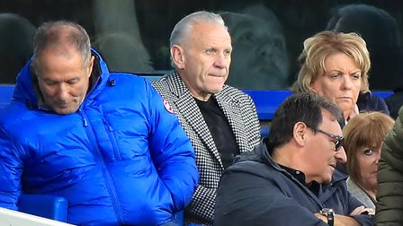 Former Everton and England player Peter Reid (centre) during the Premier League match at Goodison Pa