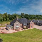 Large family home in the Norfolk countryside surrounded by trees and paddocks which is for sale