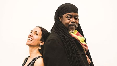 Courtney Pine and Zoe Rahman who are bringing their new stripped back show to The Apex on October 26