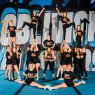 Oblivion Allstars from Dunmow form a pyramid for Stand Up to Cancer