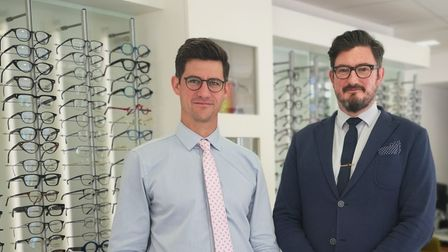 Cousins Matthew Conway, left and Ben Conway, right, co-directors of Dipple and Conway Opticians.