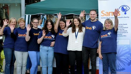 SANDS Rainbow Walk in Nowton Park and fund raising stall in the ARC Shopping Centre