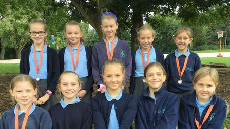 Takeley Primary School's girls claimed a bronze medal after winning two games and drawing one