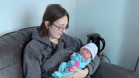 Rachel Laws and her daughter Elodie-Rae, who died when she was 36 hours old in February 2020
