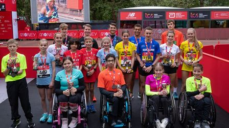 Chloe Lewis, of March, won gold in the under 17s women's wheelchair race at the London Mini-Marathon.