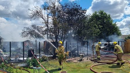 Norfolkfire servicehaverevealed newphotosshowing the aftermath of a blaze which destroyed a bungalow in Narborough