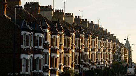 Terraced houses make the most of a lack of space in London. Photo: Dominic Lipinski/PA Wire