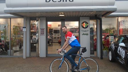 Perry Payne has organised a charity ride from Desira in Norwich in aid of the teenage Cancer Trust.