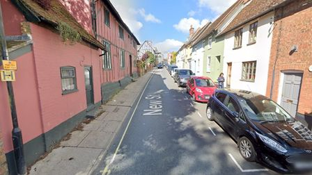 The B1079 New Street in Woodbridge has been closed, Ipswich Reds said on Twitter
