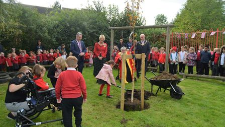 Pupils at Spring Meadow school in Ely played their part in planting a tree as part of the Queen's Jubilee campaign.
