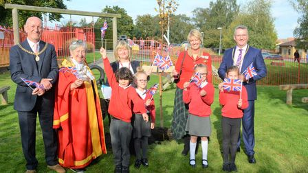 Students and staff at Spring Meadow school were joined by the Mayor of Ely, Sue Austen for the tree planting.