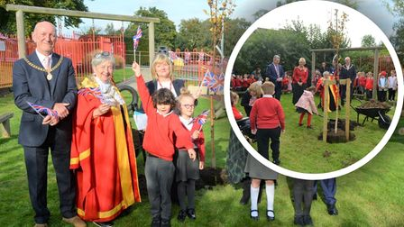 Students and staff at Spring Meadow school in Ely have planted a tree as part of the Queen's Green Canopy campaign.