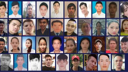 Police released images of the 39 Vietnamese migrants after their bodies were found in a Grays lorry park
