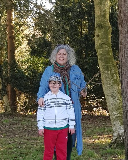 Maxine Webb with her son Harry, 11