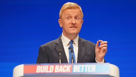 Conservative Party chairman Oliver Dowden during his speech at the Conservative Party Conference in