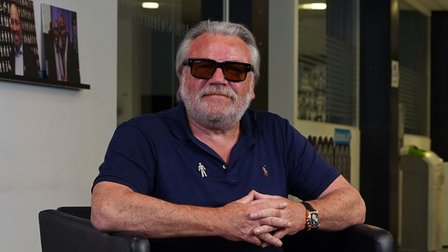 It is understood that Ray Winstone has been recording a new film in Suffolk