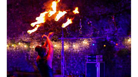 Fire on the Water includes dance and acrobatic performances