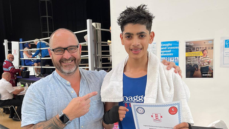 Kaizer Syed with Southern Counties ABA Secretary - Aaron Pritchard