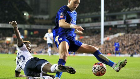 Leicester City defender Yohan Benalouane has been touted with a loan move to Norwich City. Picture: