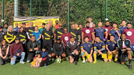 Some of the players in mixed teams for the tournament