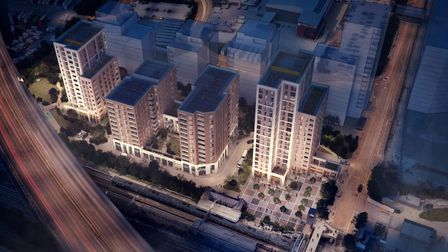 A computer generated image of the planned development at Dagenham Dock.
