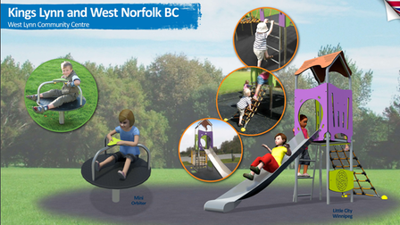 The design for new play equipment at the West Lynn Community Centre