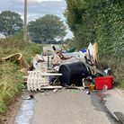 A substantial amount of rubbish has been tipped in East Bergholt