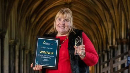 EDP Stars of Norfolk and Waveney 2020 Awards at Norwich Cathedral. Karen Fulcher, Overall Star of No