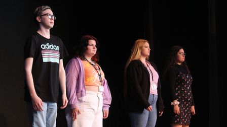 Dereham Sixth Form College students performed a drama piece based on significant events in the school's history
