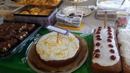 There was a huge selection of cakes at the Macmillan Coffee Morning in Toftwood