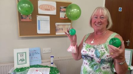 A 'lucky balls' competition was held at the Macmillan Coffee Morning in Toftwood