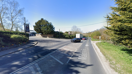 A main road leading to Colchester Zoo has been shut after a burst water main