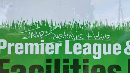 Cottenham sports pavilion was covered in graffiti last night and a police investigation has now been launched.