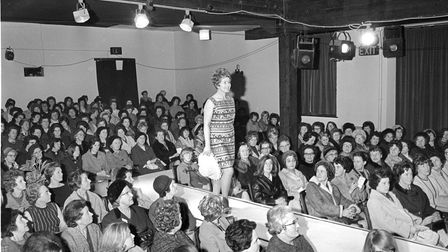 Bonds store fashion show at Maddermarket in 1968.