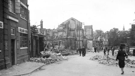 Bonds after it was destroyed in 1942.