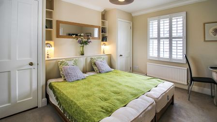 Stylish double bedroom in this 3-bed townhouse for sale in central Woodbridge