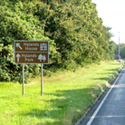 A sign for Hylands Park and Hylands House, Chelmsford
