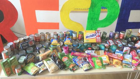 Pupils at Thomas Eaton Primary Academy donated 114.4 kilos of food to March food bank after a successful harvest collection.