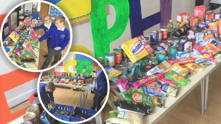 Pupils at Thomas Eaton Primary Academy donated 114.4 kilos of food to March foodbank after a successful harvest collection.