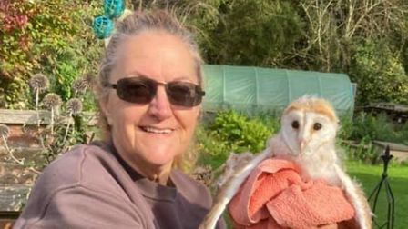 Jayne Reeve was at her friend's house in Stibbard on October 13 when they discovered the baby barn owl in the bushes.