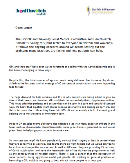 The full text of the open letter