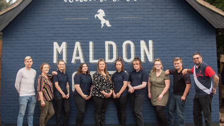 The new team at The Maldon Grey in Great Cornard. Picture: Sarah Lucy Brown