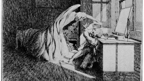 Illustration from M R James story - often illustrated by his friend James McBryde