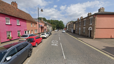 A man in his 70s has been taken to hospital following a crash in Sudbury