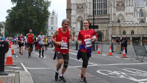 Running past Westminster Abbey