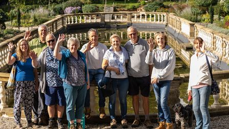 A group of rural ramblers at Easton Lodge raising money for the Helen Rollason Cancer Charity