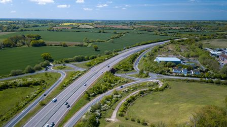 Aerial view of computer image of proposed Chelmsford North East bypass