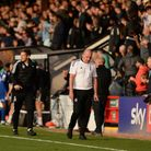 Paul Cook after the final whistle at Cambridge.