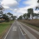 Police were called to the A1065 on Sunday morning