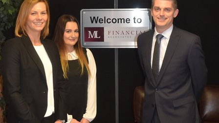 Victoria Barr, Laura Pipe & Gary Cook of ML Financial. Picture: SUPPLIED.